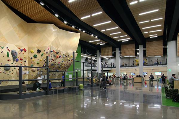 University Rec Center entrance